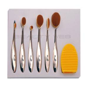 LONDON PRIDE MULTI PURPOSE OVAL MAKE UP GOLD 6 BRUSHES