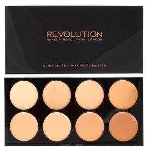 MAKEUP REVOLUTION ULTRA COVER AND CONCEAL PALETTE LIGHT MEDIUM
