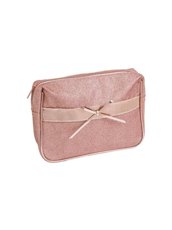 Royal Rose Gold Makeup Bag