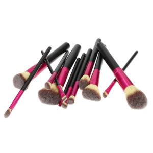 T4B Makeup Brush 12Pcs Black Pink Set