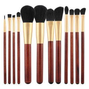 T4B Makeup Brush Wooden 12Pcs set