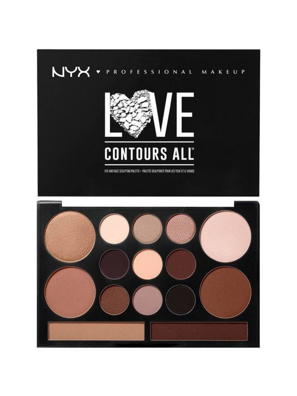 NYX Love Contours All Eyes and Face Sculpting Palette
